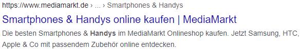 Title und Meta-Description